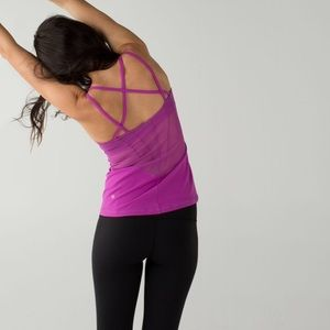 Lululemon Exquiste Ultra Violet Mesh Accent Tank